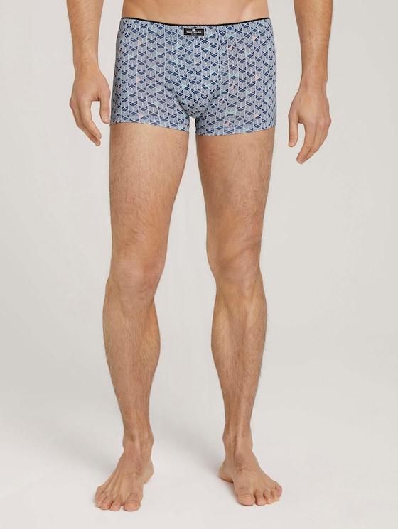 Hip-Pants aus Mikrofaser - Männer - blue-medium-allover - 1 - TOM TAILOR