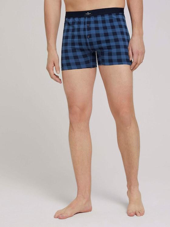 Hip-Pants im Zweierpack - Männer - blue-dark-allover - 1 - TOM TAILOR