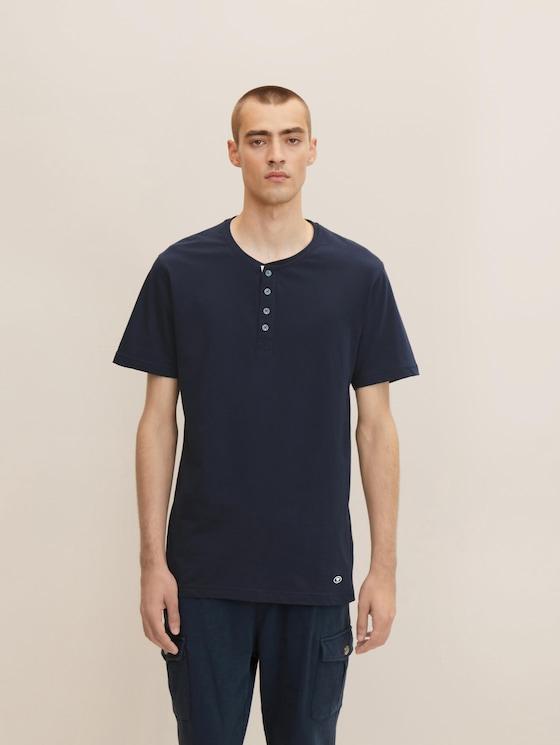 Pyjama T-Shirt - Männer - blue-dark-solid - 1 - TOM TAILOR