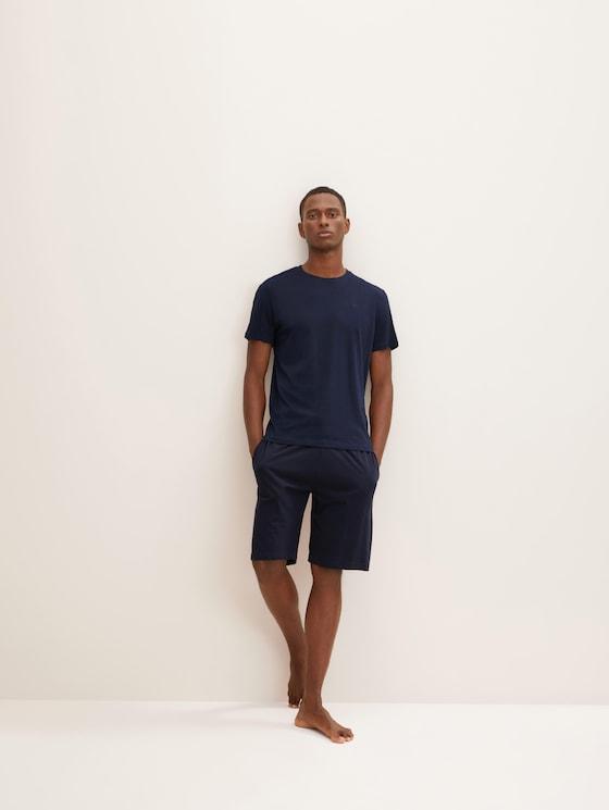 Jersey Bermuda shorts - Men - blue-dark-solid - 3 - TOM TAILOR