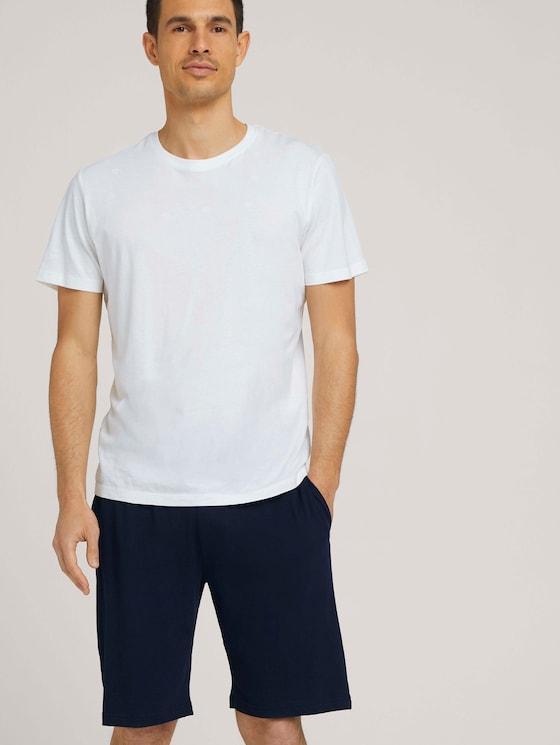 Jersey Bermuda shorts - Men - blue-dark-solid - 5 - TOM TAILOR