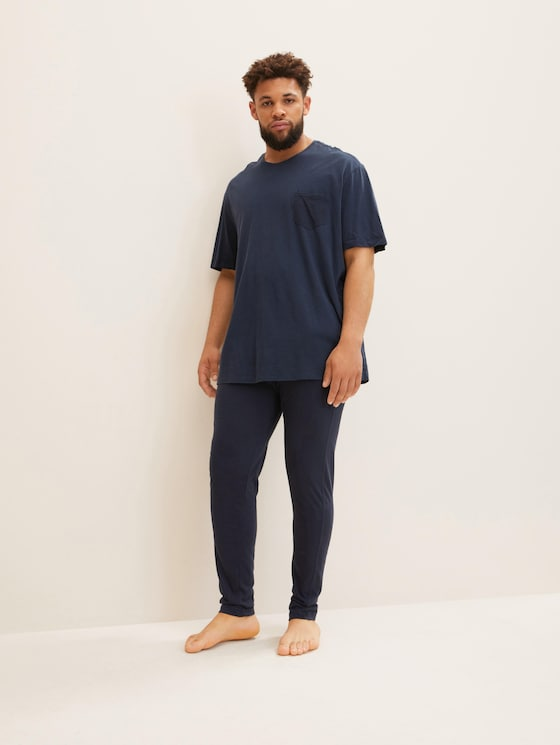 Pyjama bottoms - Men - blue-dark-solid - 3 - TOM TAILOR