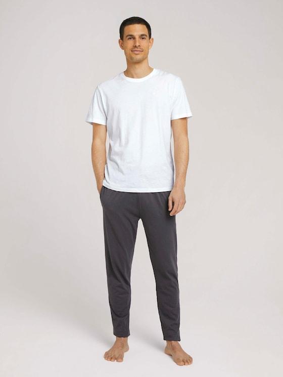 pyjama Broeken - Mannen - grey-dark-solid - 3 - TOM TAILOR