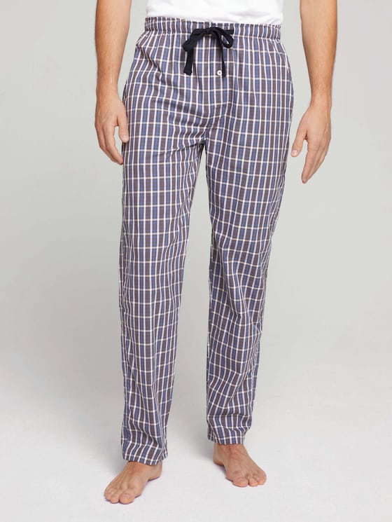 Checked pyjama bottoms - Men - blue-dark-check - 1 - TOM TAILOR