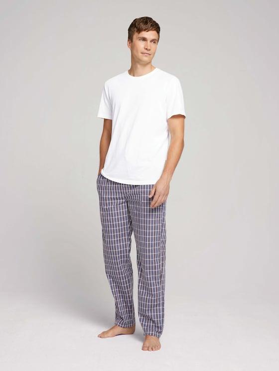 geruite Pyjama broek - Mannen - blue-dark-check - 3 - TOM TAILOR