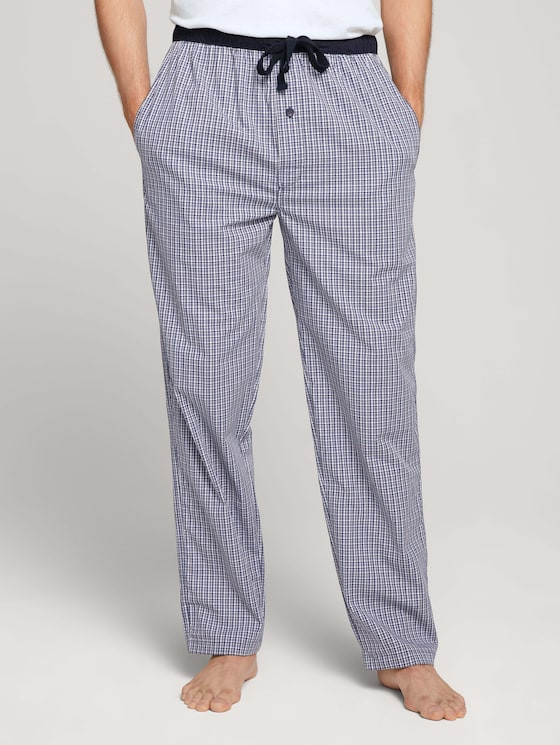 Karierte Pyjama Hose - Männer - blue-medium-check - 1 - TOM TAILOR