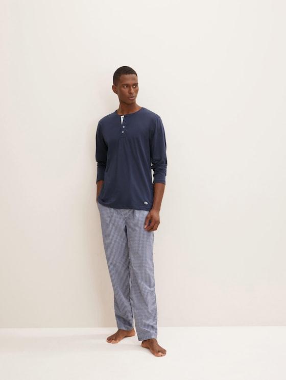 geruite Pyjama broek - Mannen - blue-medium-check - 3 - TOM TAILOR
