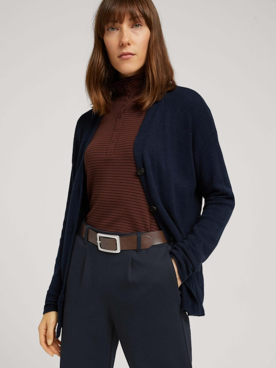 Smooth leather belt - Women - brown uni - 5 - TOM TAILOR