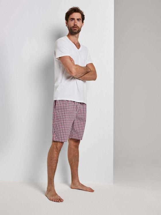 Karierte Pyjama Shorts - Männer - red-medium-check - 5 - TOM TAILOR