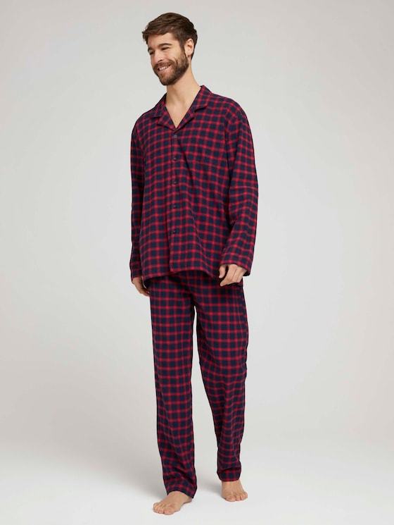 Kariertes Pyjama-Set - Männer - red-dark-check - 3 - TOM TAILOR