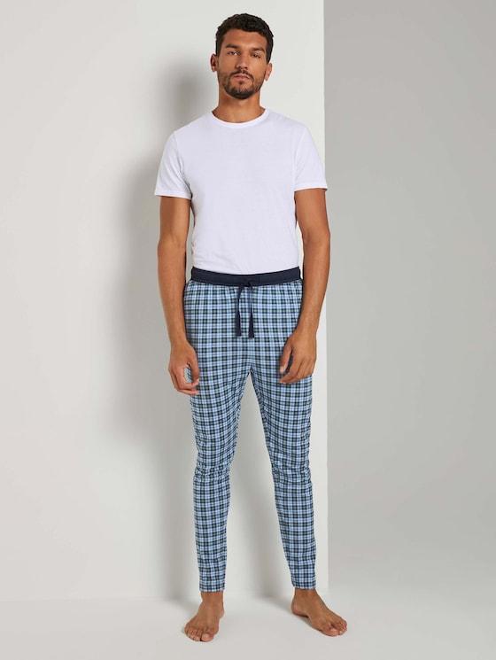 Karierte Pyjama Hose - Männer - blue-medium-allover - 3 - TOM TAILOR