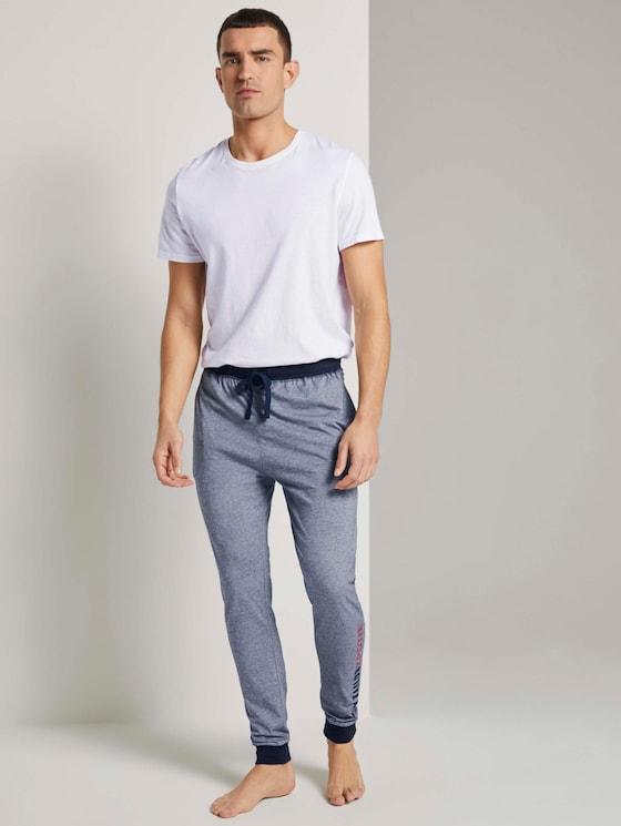 Gestreifte Jogging Pyjama Hose - Männer - blue-dark-horizontal stripe - 3 - TOM TAILOR