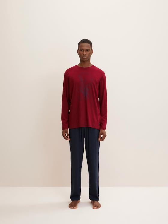 Lange pyjama Set met print