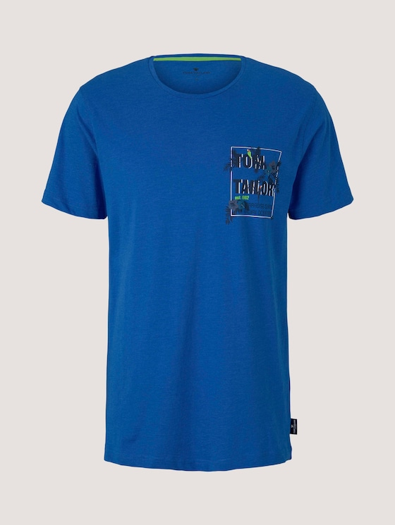 Pyjama Shirt mit Brusttasche - Männer - blue-medium-melange - 7 - TOM TAILOR