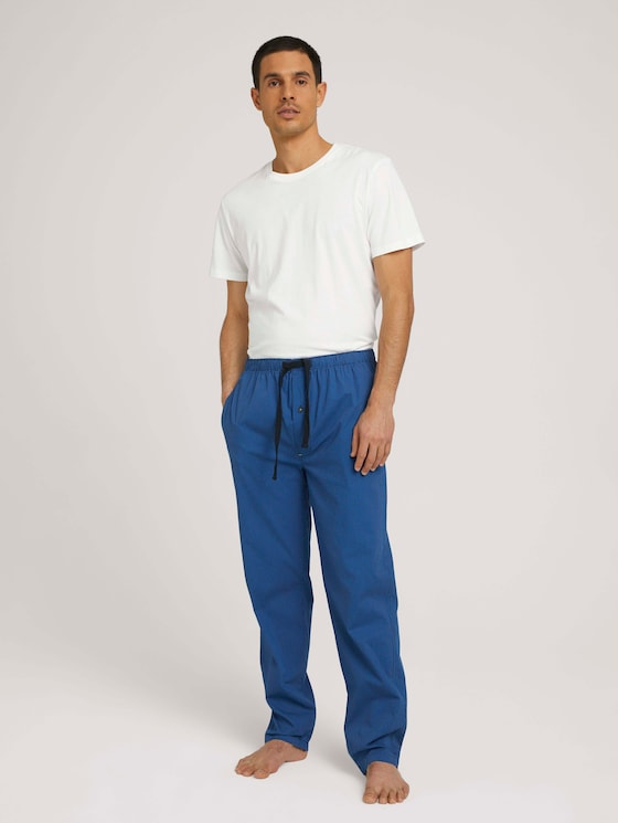 Lange Pyjamahose mit Karomuster - Männer - blue-medium-check - 3 - TOM TAILOR