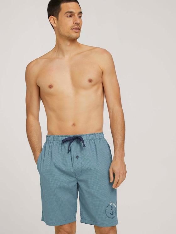 Karierte Bermuda Shorts - Männer - blue-medium-check - 5 - TOM TAILOR
