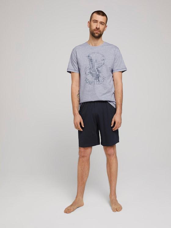 Maritimes Pyjama-Set - Männer - grey-medium-melange - 3 - TOM TAILOR