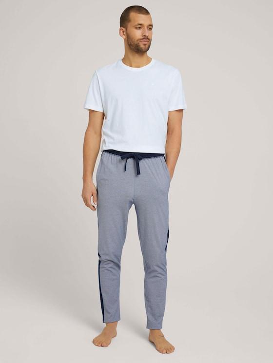 gestreifte Pyjama-Hose - Männer - blue-dark-horizontal stripe - 3 - TOM TAILOR