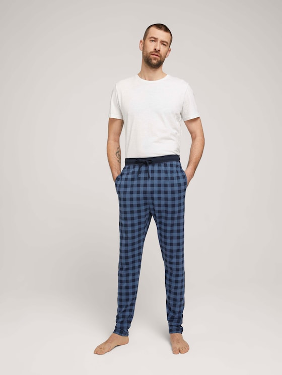 Karierte Pyjamahose - Männer - blue-dark-allover - 3 - TOM TAILOR