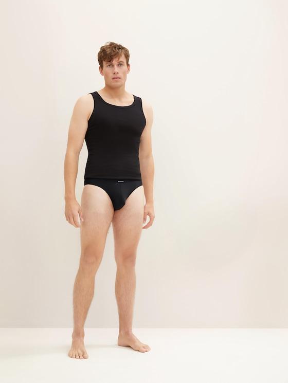 eenkleurige slips - Mannen - black - 1 - TOM TAILOR