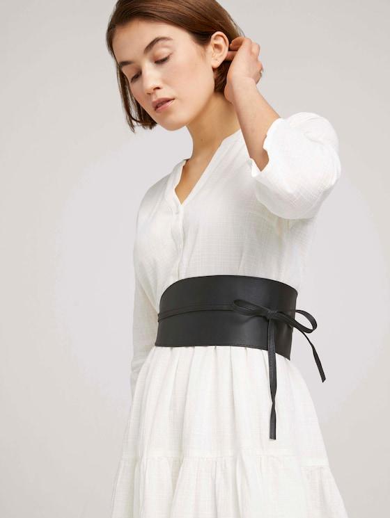 Breiter Taillengürtel zum Binden - Frauen - black uni - 5 - TOM TAILOR Denim