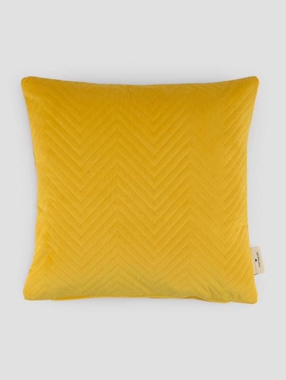 Kissenhülle aus Samt mit Zickzack-Steppung - unisex - gelb - 7 - TOM TAILOR