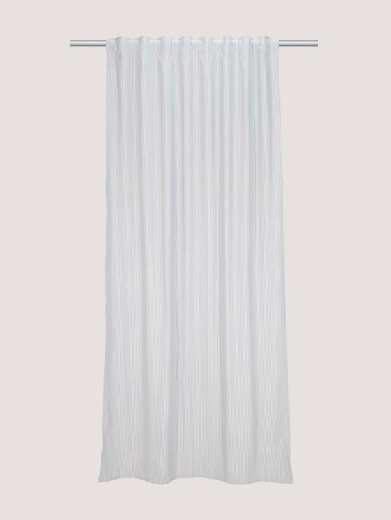 decorative curtain with pinstripes - unisex - blue-white - 7 - TOM TAILOR