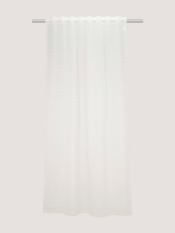 striped decorative curtain - unisex - grey-white - 7 - TOM TAILOR
