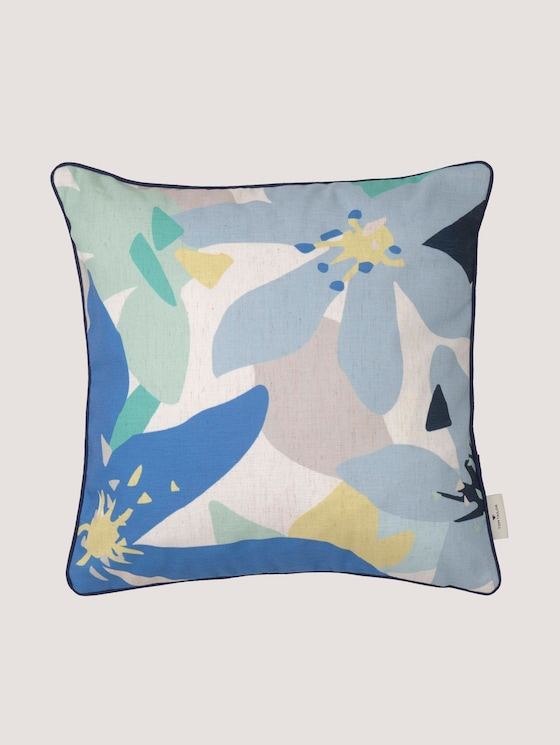 floral cushion cover - unisex - blue - 7 - TOM TAILOR