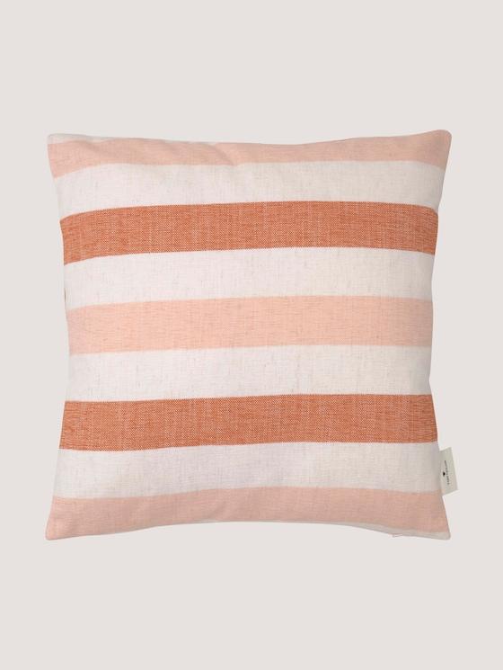 Kissenhülle mit Blockstreifen - unisex - rust red corale - 7 - TOM TAILOR