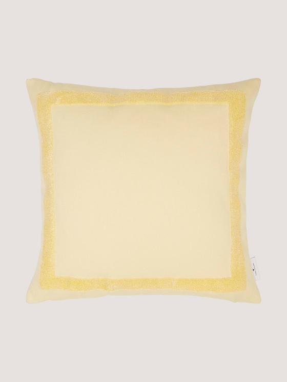 Kissenhülle mit Bouclé-Effekt - unisex - yellow - 7 - TOM TAILOR