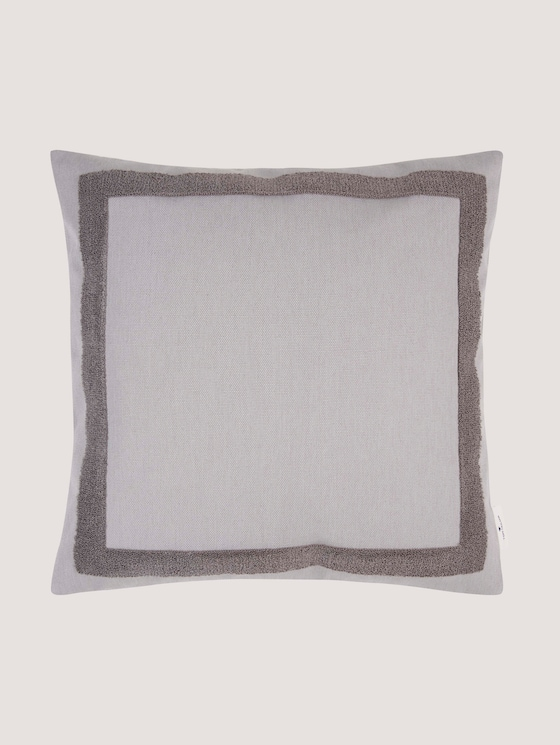Kissenhülle mit Bouclé-Effekt - unisex - grey - 7 - TOM TAILOR