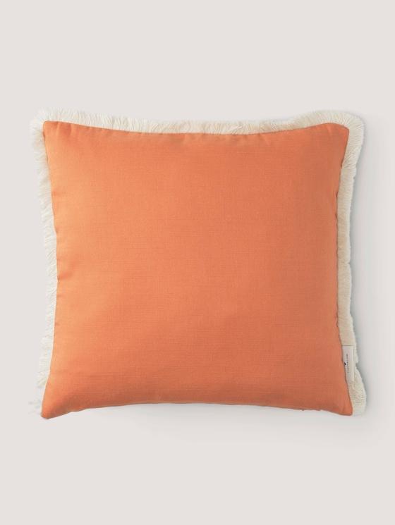 Kissenhülle mit Fransen - unisex - orange - 7 - TOM TAILOR