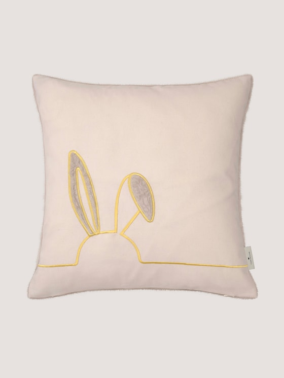 rabbits cushion cover with fur applications - unisex - nature - 7 - TOM TAILOR