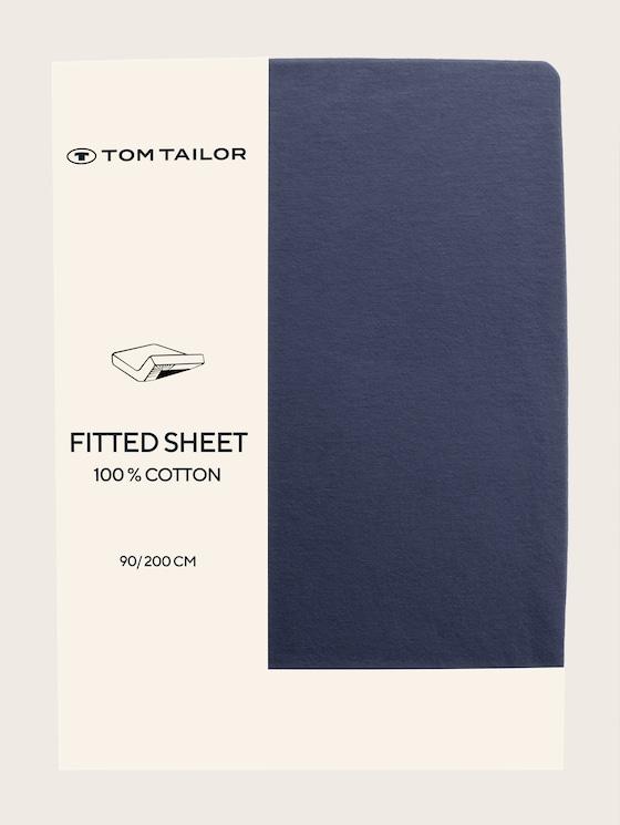 Fitted bed sheet made of jersey - unisex - indigo / indigo - 7 - TOM TAILOR