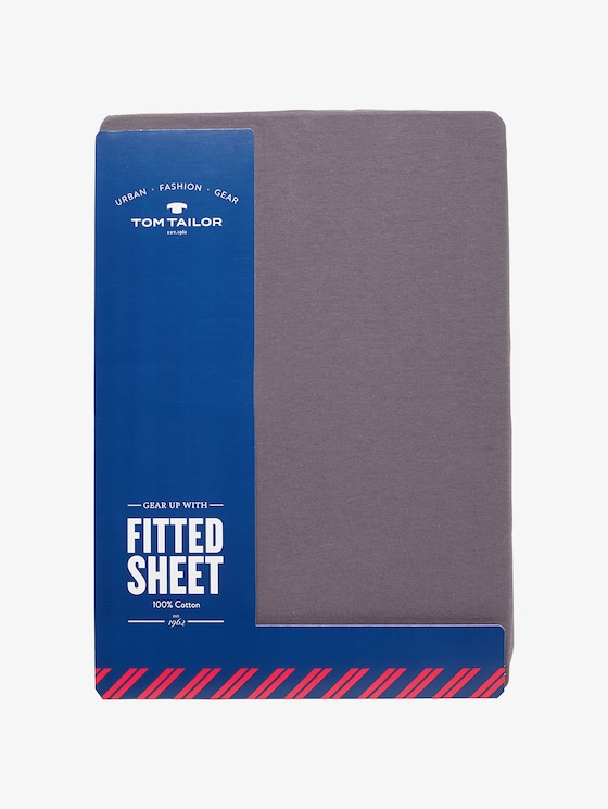 Fitted bed sheet made of jersey - unisex - grau / grey - 1 - TOM TAILOR