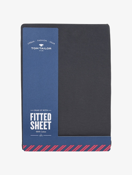 Fitted bed sheet made of jersey - unisex - antrazit / D - 1 - TOM TAILOR