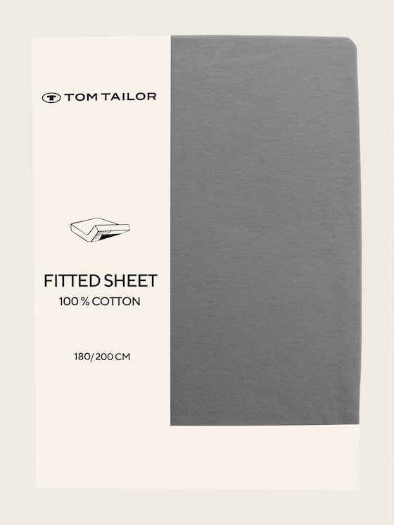 Fitted bed sheet made of jersey - unisex - grau / grey - 7 - TOM TAILOR