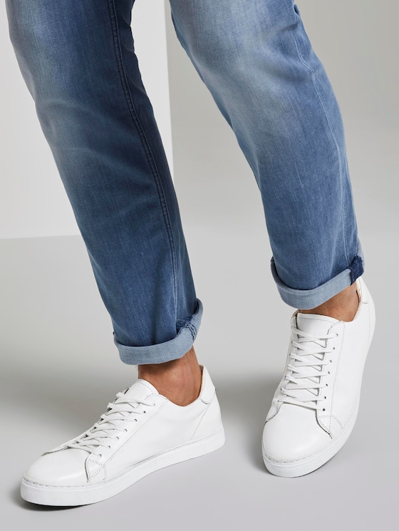 Simple leather sneakers - Men - white - 5 - TOM TAILOR