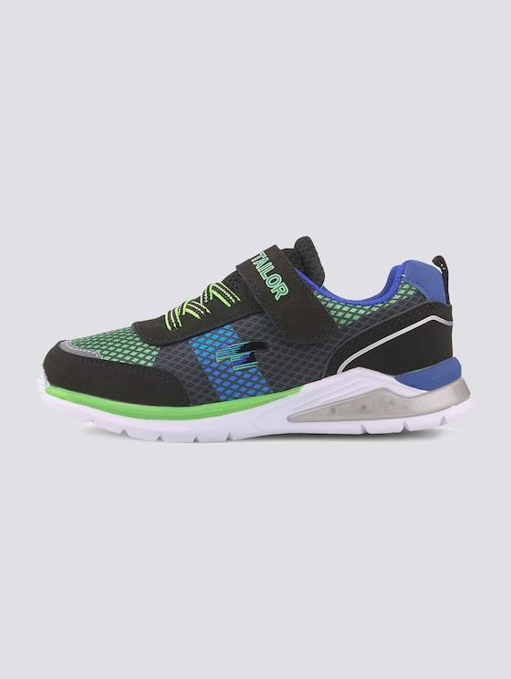 Sportlicher Sneaker in bunten Farben - unisex - black-lime-royal - 7 - TOM TAILOR