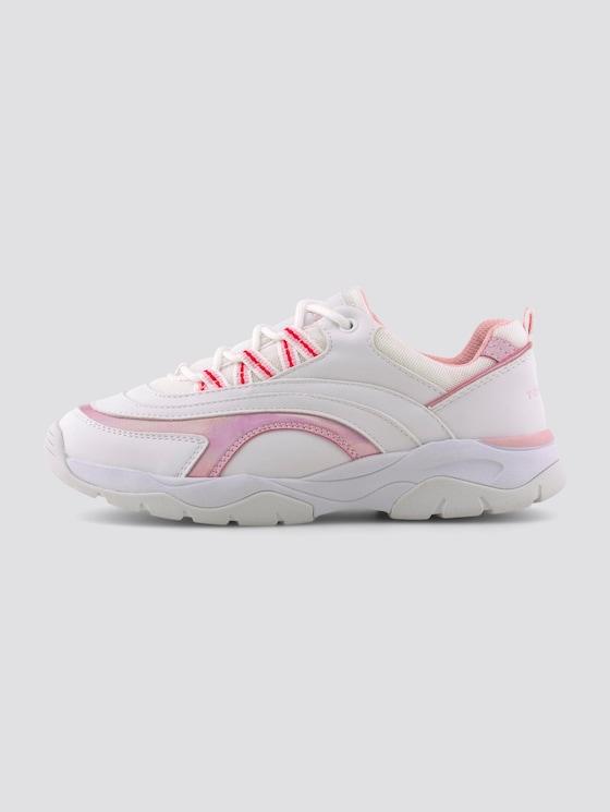 Sneaker mit holografischen Details - unisex - white-rose - 7 - TOM TAILOR