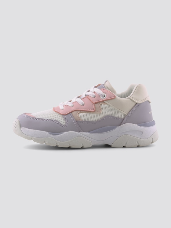 Sneaker in Pastellfarben - unisex - white-viola-rose - 7 - TOM TAILOR