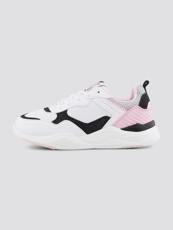 Sneaker in Pastellfarben - unisex - white-black-rose - 7 - TOM TAILOR