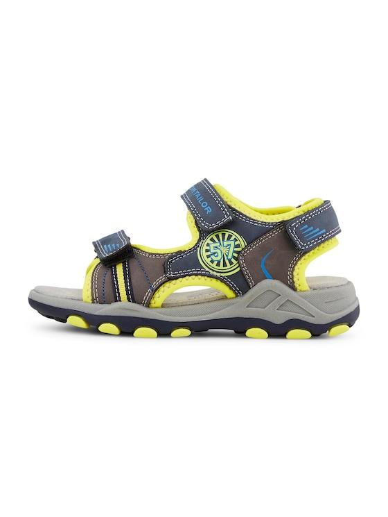 Sandalen mit Klettverschluss - unisex - navy-grey-yellow - 7 - TOM TAILOR