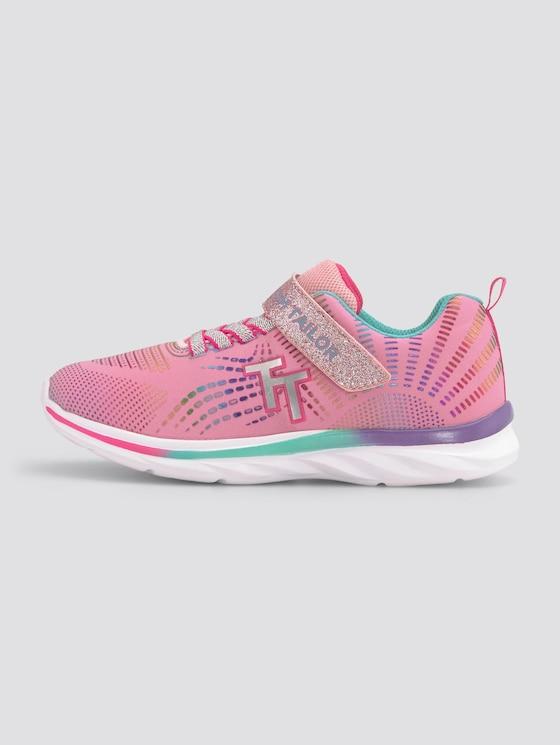 Regenbogen-Sneaker mit Glitzer - unisex - rose-multi - 1 - TOM TAILOR