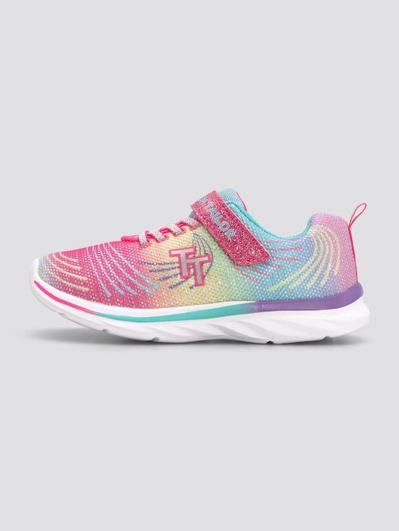Rainbow sneakers with glitter - unisex - rainbow-multi - 1 - TOM TAILOR