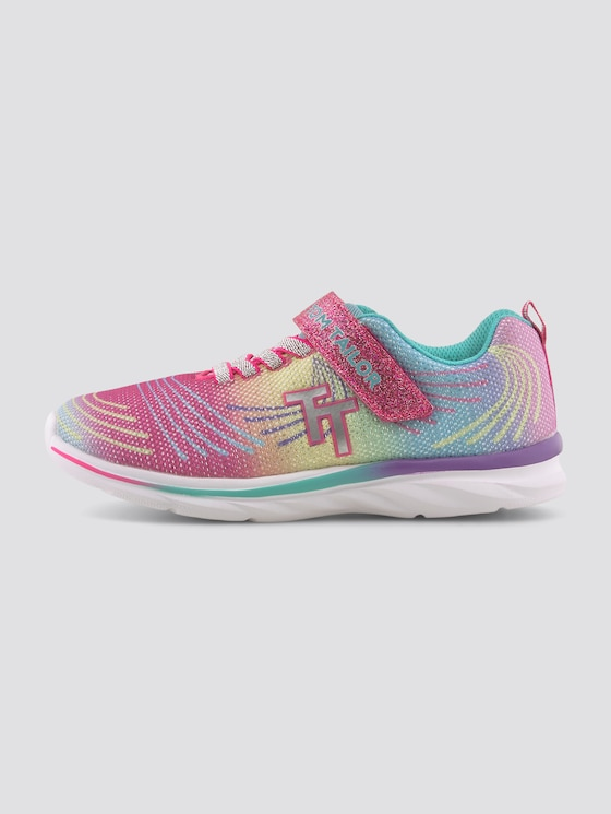 Regenbogen-Sneaker mit Glitzer - unisex - rainbow-multi - 7 - TOM TAILOR