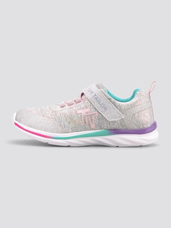 Sneaker mit Glitzer in Melange-Optik - unisex - grey - 7 - TOM TAILOR
