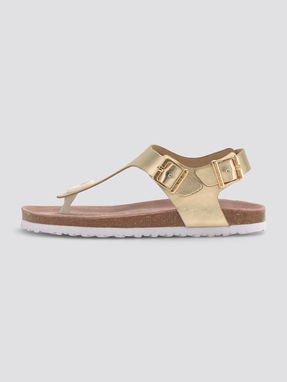 Zehentrenner Sandalen in Metallic - unisex - gold - 1 - TOM TAILOR