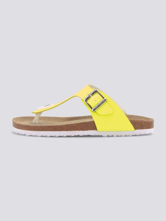 Zehentrenner Sandalen in Neonfarbe - unisex - neon yellow - 7 - TOM TAILOR
